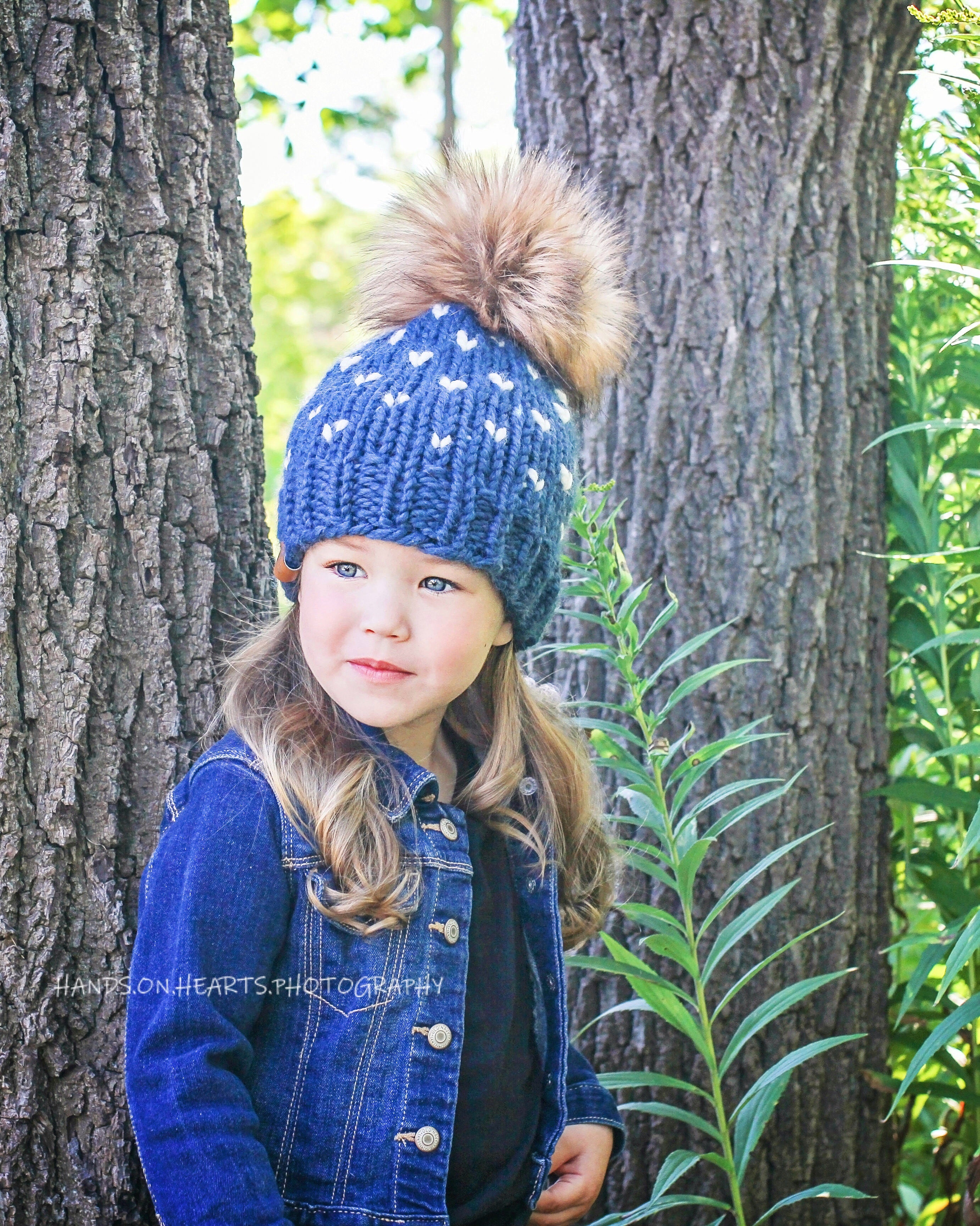 Little Hearts Custom Order Child + Toddler + Baby Toque