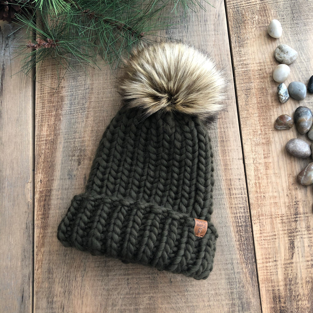 Luxury Muskoka Ribbed Toque Olive