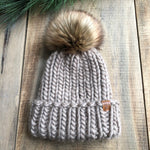 Luxury Muskoka Peruvian Highland Wool Ribbed Toque Taupe