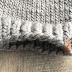 Luxury Killarney Peruvian Highland Wool Toque Beanie Taupe