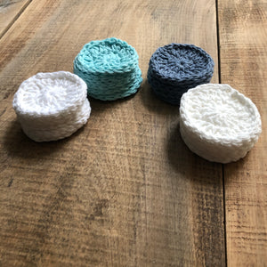 Reusable Cotton Rounds Set of 5 Face Scrubbies Free Shipping