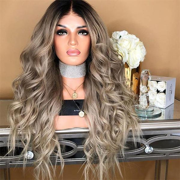 New golden wave lace wig - eFunker