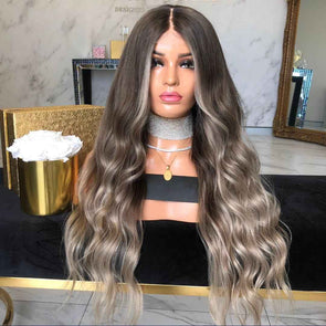 #2019 Medium brown roots wig - eFunker