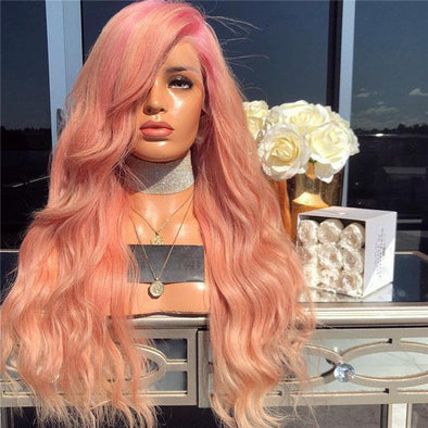 Pink purple wave lace wig - eFunker