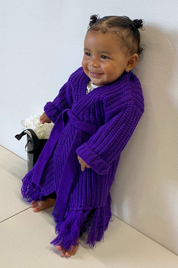 Baby Miya Knit Cardigan Dress