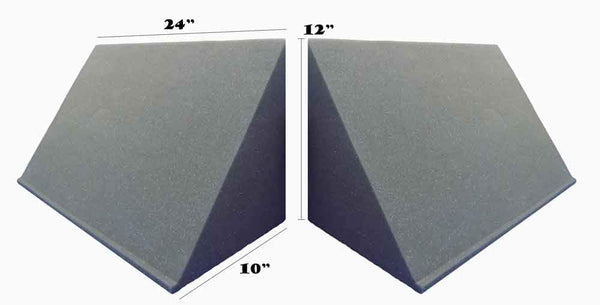 [Mybecca] 4 PACK TriAmp Corner Acoustic Acoustic for Studio Soundproofing 10 x 12 x 24