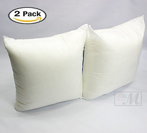 Mybecca Set Of 4040 X 40 Premium Hypoallergenic Stuffer Pillow New 16 Square Pillow Insert