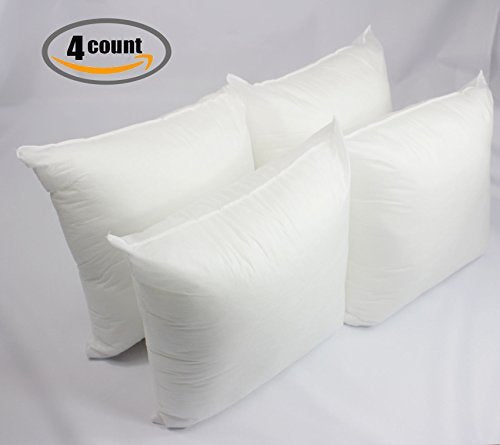 Mybecca Decorative Sofa And Bed Throw Pillow Insert Premium Hypoallergenic  Sham Square Stuffer Form Polyester,