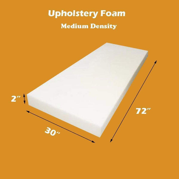 "Mybecca Foam Sheet (Medium Density Firm), 2"" L X 30"" W X 72"" H"