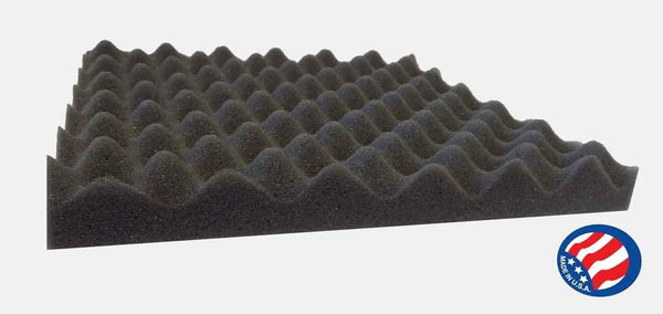 [Mybecca] 24 PACK Acoustic Eggcrate Design Soundproofing Wall Tiles 12 X 12 X 2 inch, Made in USA