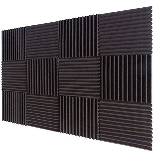 12 PACK Acoustic Wedge Soundproofing Wall Tiles 12 X 12 X 1 inch, Made in USA