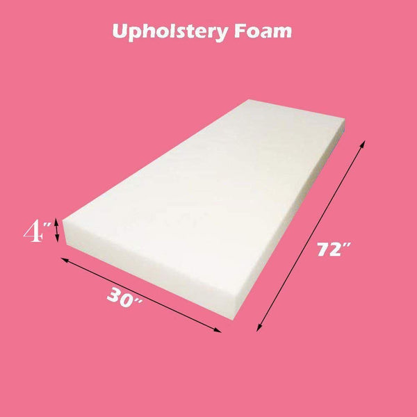 "Mybecca Upholstery Foam Cushion (Seat Replacement/Upholstery Sheet), 4"" L X 30"" W X 72"" H"