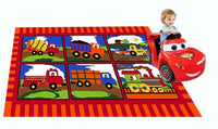 MYBECCA's Kids Rug TRUCK ZONE Design Children Area Rug 3' x 5' (approx.)