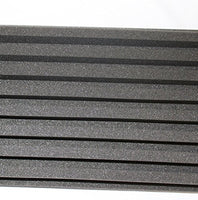 "2 Pack - Decorative Acoustic Panels Studio Soundproofing Foam Wedges Wall Panels provide Baffle Kit 36"" x 12"" x 3"" Made in Usa"
