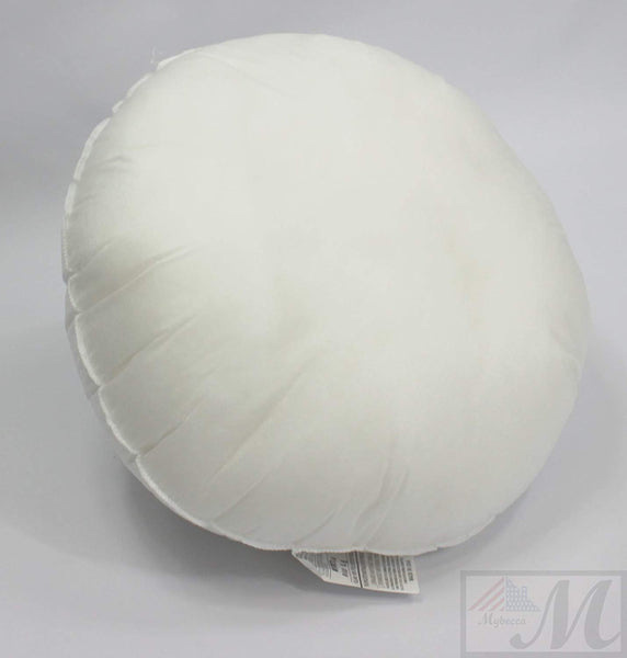 "Mybecca 12"" ROUND pillow Insert Sham Form Polyester Premium Hypoallergenic Stuffer, Standard/White - MADE IN USA"