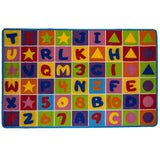 "8' x 11' Kids Rug Area Rugs Non Skid Gel Backing Number and Letters ( 7'10"" X 11'3"")"