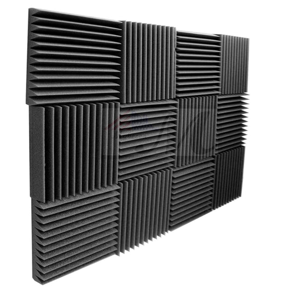"12 Pack Acoustic Panels Studio Foam Wedges 2"" X 12"" X 12"""