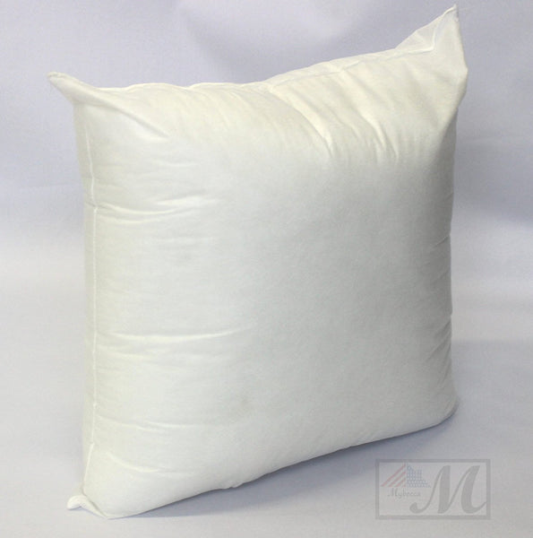 "24""W x 24""L LARGE Hypoallergenic Pillow Insert in White Polyester Form Made in USA, by MYBECCA"