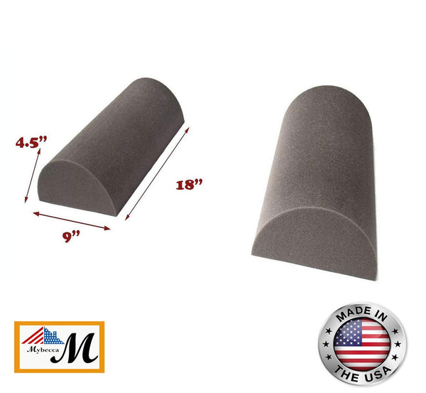 "Set of 2 - Acoustic Foam Studio Half Moon Corner Block Wall Finish Acoustic 18"" X 9"" X 4.5"""
