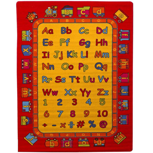 Mybecca Kids Rug ABC Learning Rug 3 ft 3 in x 4 ft 10 in -3' x 5' Non Slip Bottom