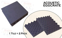 Mybecca 4 PACK Premium 2-inch EGGCRATE Convoluted Acoustic Foam Wall Panel Studio Soundproofing Wall Tiles 12 X 12 Inches, Made in USA