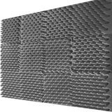 Mybecca 6 PACK Premium 2-inch EGGCRATE Convoluted Acoustic Foam Wall Panel Studio Soundproofing Wall Tiles 12 X 12 Inches, Made in USA