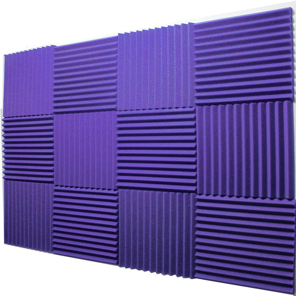 "12 - Pack Acoustic Panels Studio Foam Wedges 1"" X 12"" X 12"""