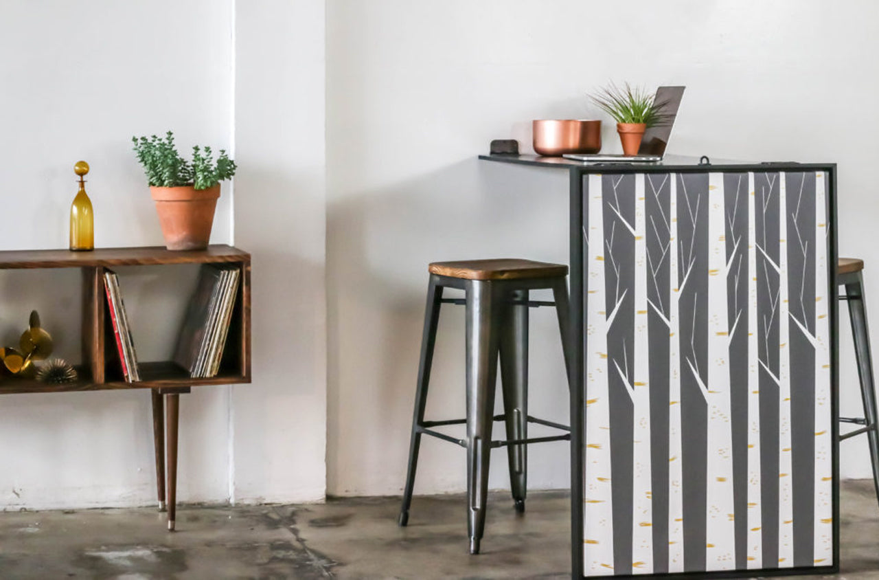 Diy This Folding Wall Art Table Is A Small Space Lifesaver