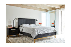 Westmont Low Profile Platform Bed BLACK/BRUSHED STEEL