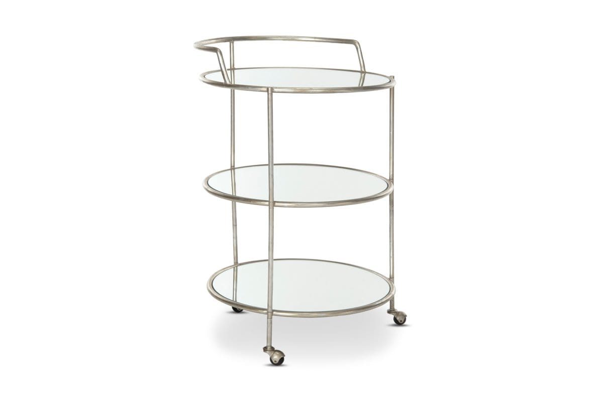 Carlton Bar Cart Silver Cool Modern Bar Carts Bar Storage Apt2b