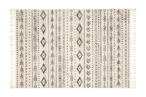 Izabel Fringe Area Rug CREAM