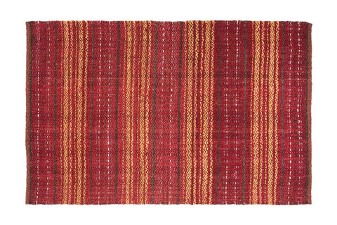 Chamati Jute Area Rug RED