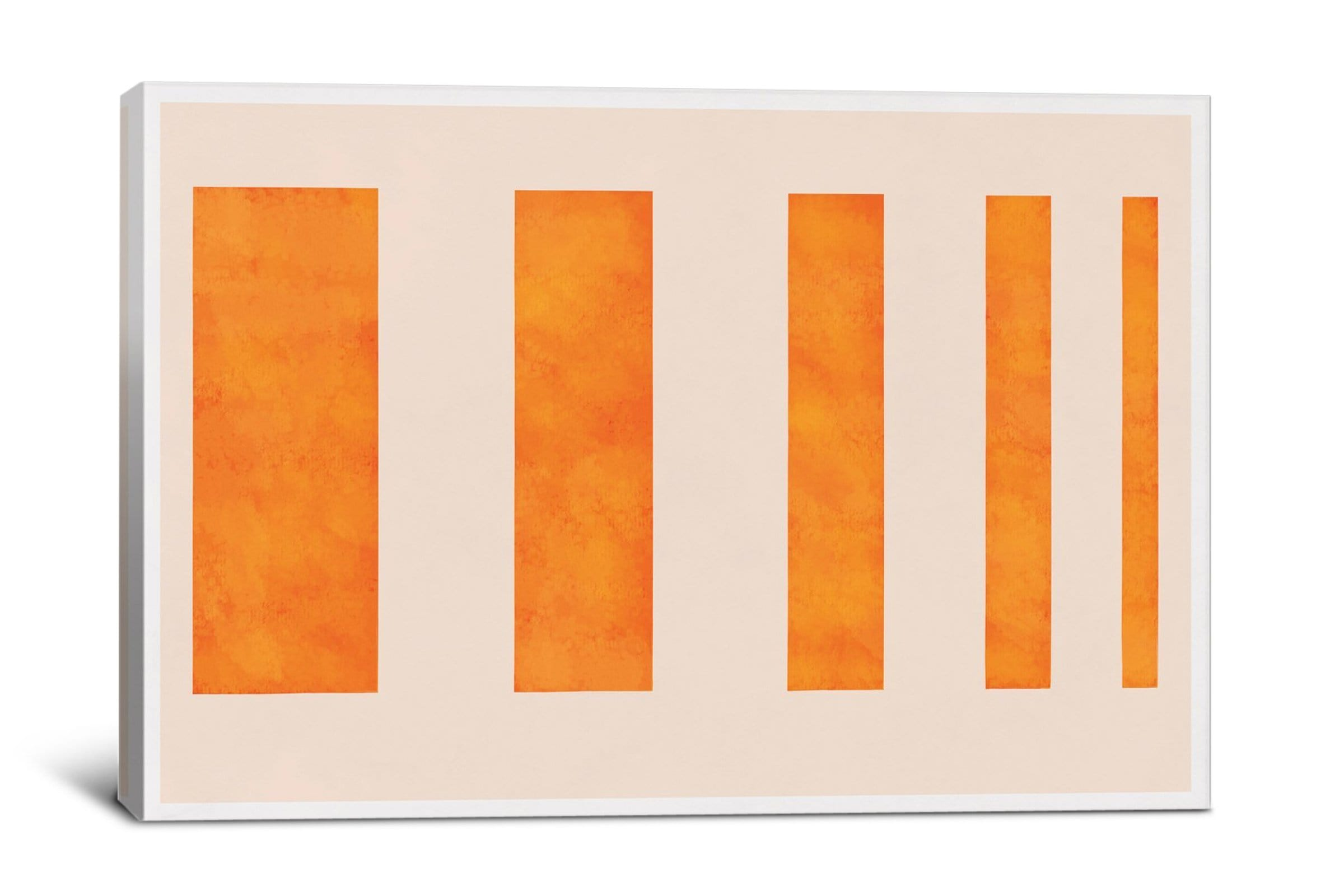5by5collective MODERN ART - ORANGE LEVIES - Giclee Canvas - Modern Artwork sold by Apt2B