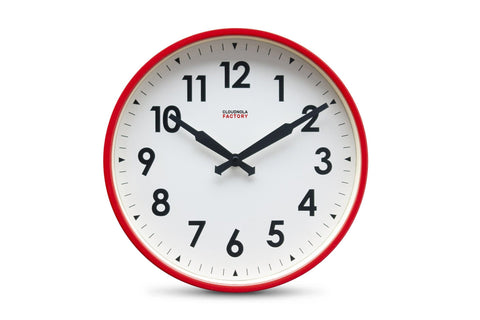 Factory Wall Clock by Cloudnola RED