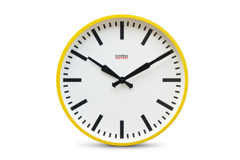 Factory Station Clock by Cloudnola YELLOW
