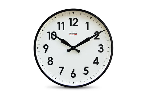Factory Wall Clock by Cloudnola BLACK
