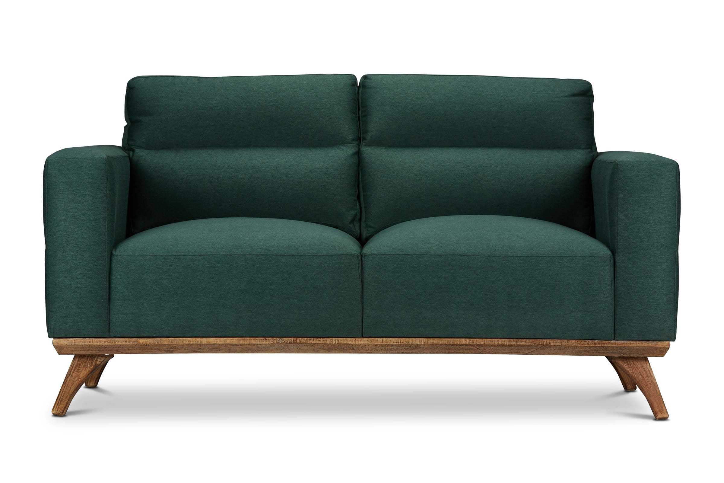 Embry Loveseat - Dark Green - Modern Furniture - Sold by Apt2B - Dark Green - Small Space Modern Couch Made in the USA - Sold by Apt2B