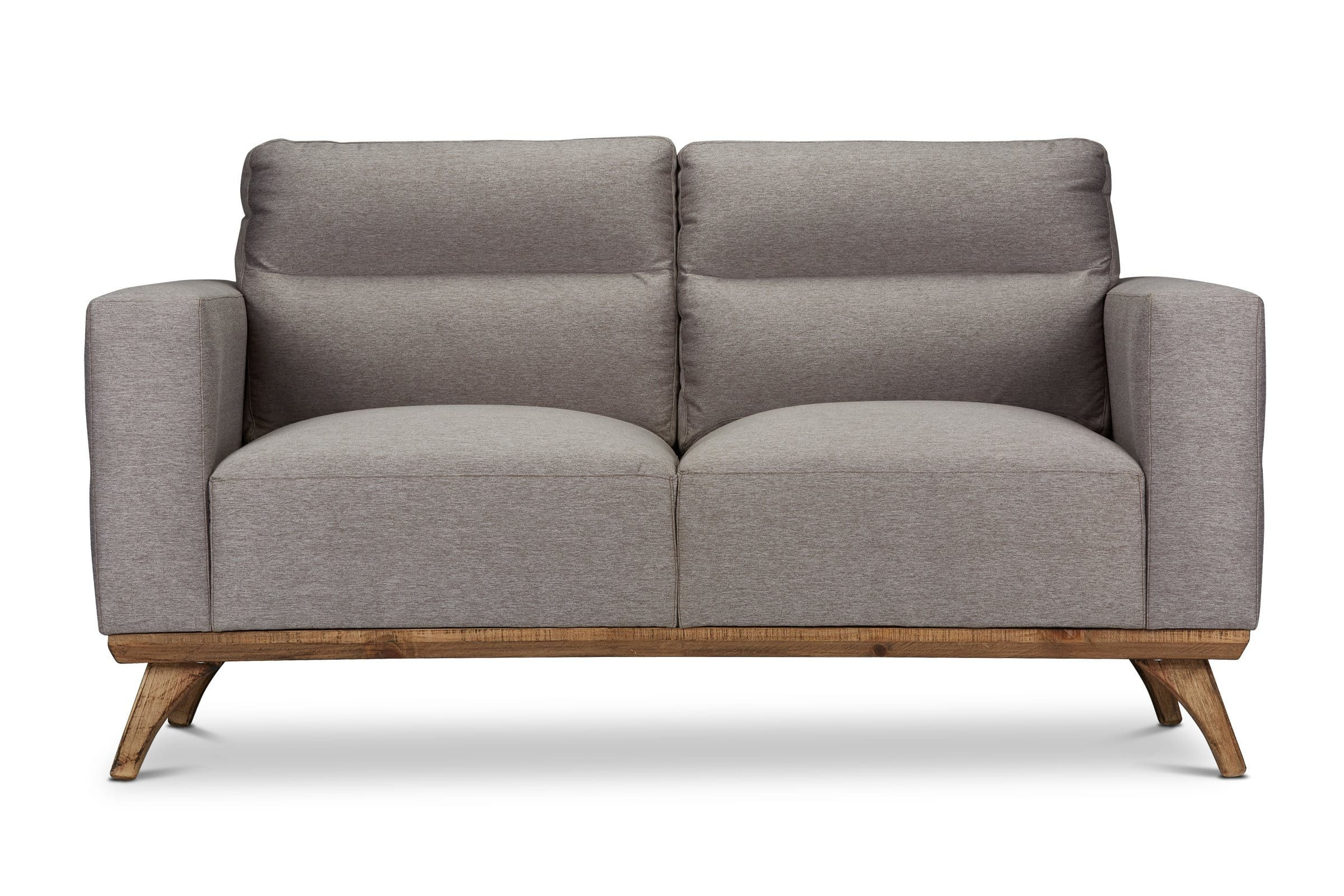 Embry Loveseat - Grey - Modern Furniture - Sold by Apt2B - Grey - Small Space Modern Couch Made in the USA - Sold by Apt2B
