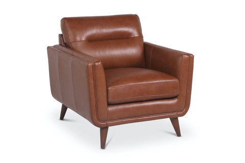Landon Leather Chair CHESTNUT