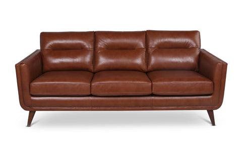 Landon Leather Sofa CHESTNUT