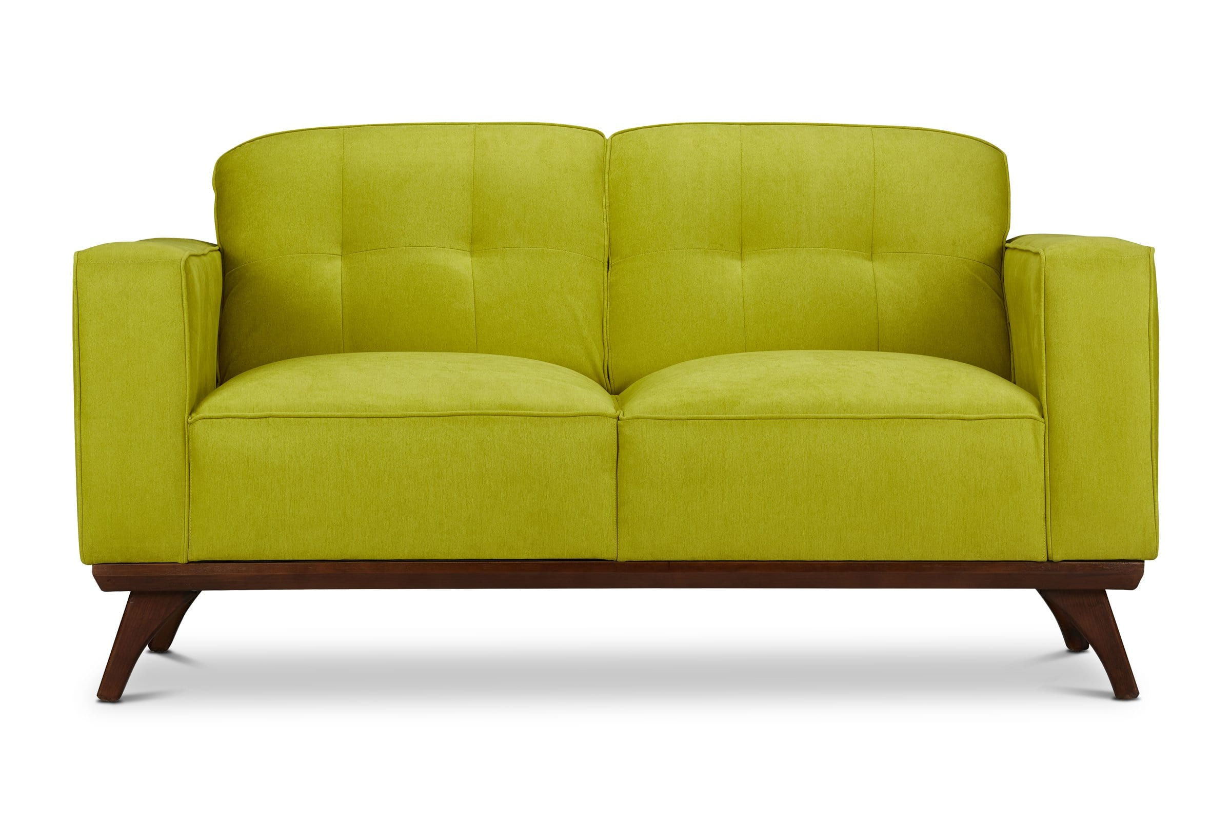 Zane Loveseat - Green - Modern Furniture - Sold by Apt2B - Green - Small Space Modern Couch Made in the USA - Sold by Apt2B