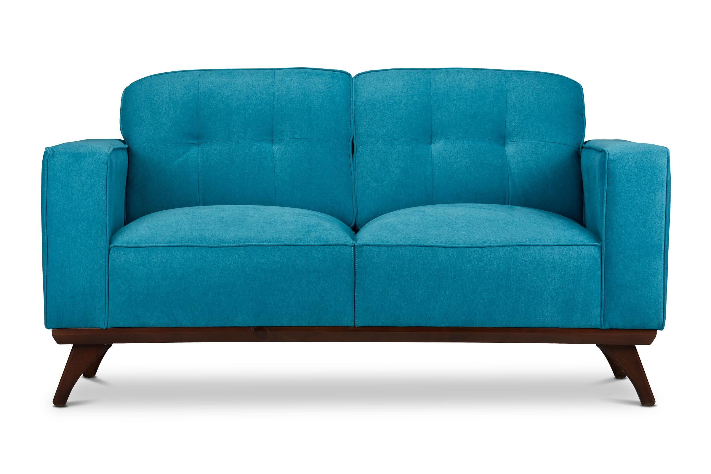 Zane Loveseat - Blue - Modern Furniture - Sold by Apt2B - Blue - Small Space Modern Couch Made in the USA - Sold by Apt2B
