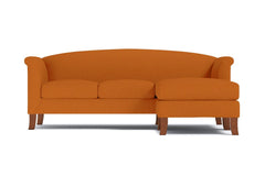 Albright Reversible Chaise Sofa :: Leg Finish: Pecan