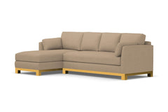 Avalon 2pc Sleeper Sectional :: Leg Finish: Natural / Sleeper Option: Memory Foam Mattress / Configuration: LAF - Chaise on the Left