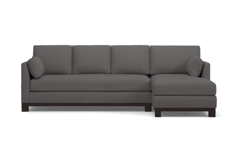 Avalon 2pc Sleeper Sectional  -  Leg Finish: Espresso - Sleeper Option: Deluxe Innerspring Mattress - Configuration: Right Chaise Fabric Option:  Gray