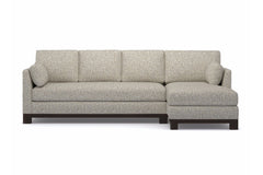Avalon 2pc Sectional Sofa :: Leg Finish: Espresso / Configuration: RAF - Chaise on the Right
