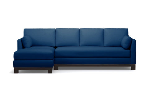 Avalon 2pc Sectional Sofa :: Leg Finish: Espresso / Configuration: LAF - Chaise on the Left