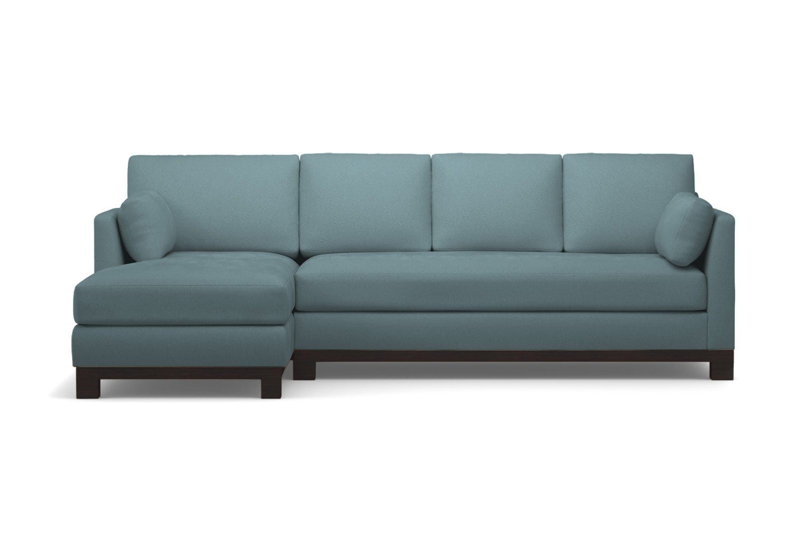 Avalon 2pc Sleeper Sectional - Blue Velvet - Pull Out Couch Bed Made in the USA - Sold by Apt2B