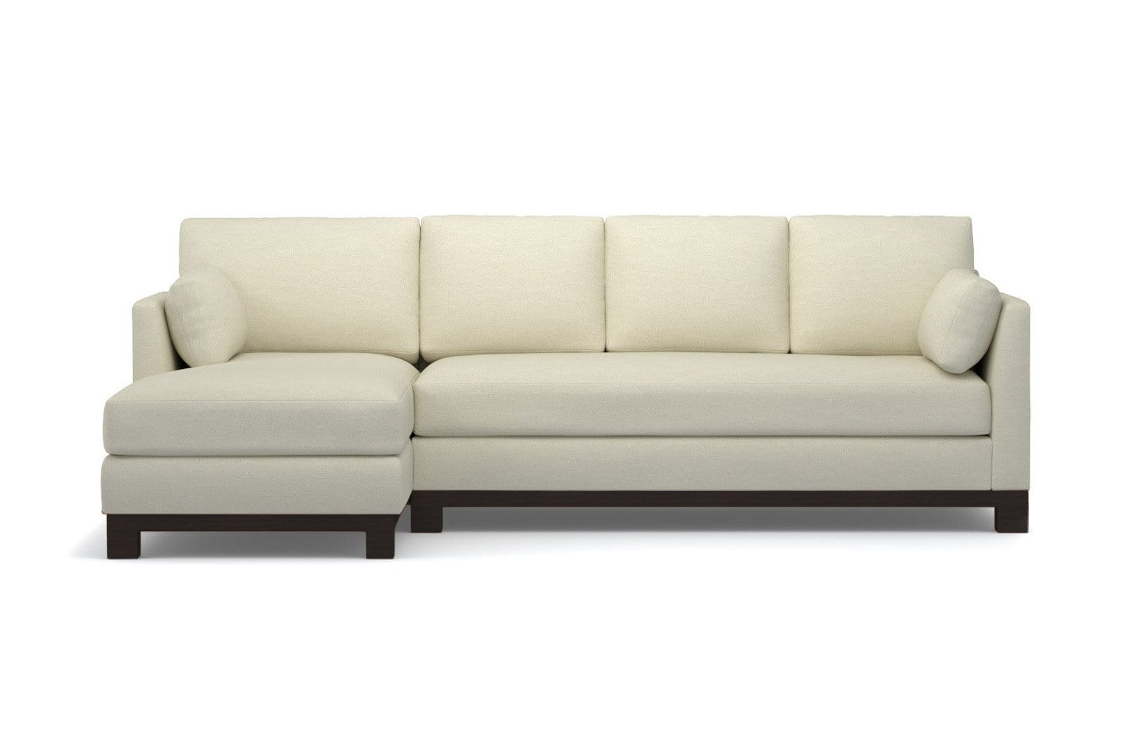 Avalon 2pc Sleeper Sectional - Cream - Pull Out Couch Bed Made in the USA - Sold by Apt2B
