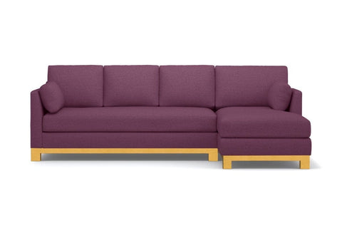 Avalon 2pc Sectional Sofa :: Leg Finish: Natural / Configuration: RAF - Chaise on the Right